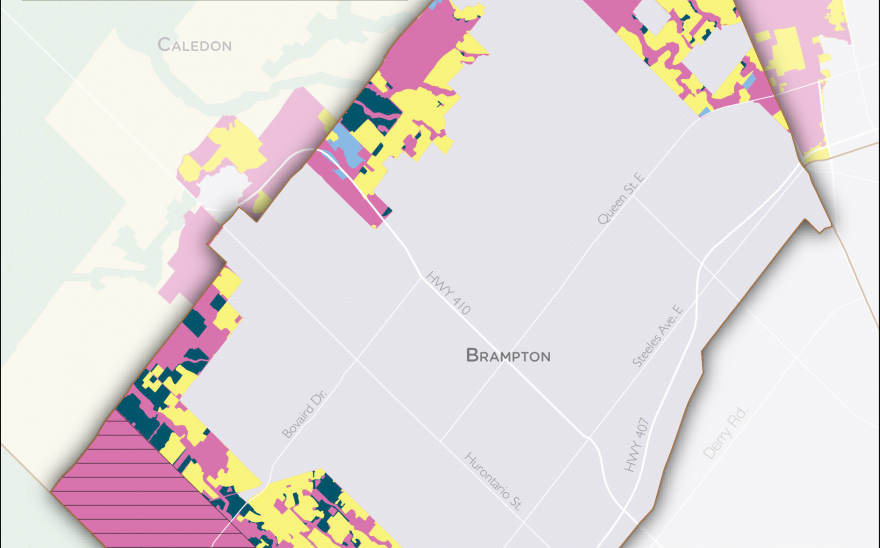 Serviced Land Map Brampton